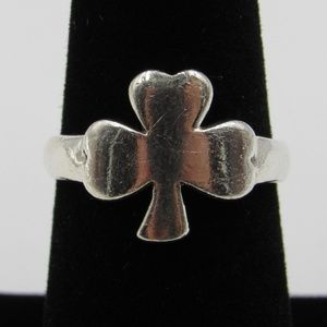 Vintage Size 7 Sterling Four Leaf Clover Luck Ring